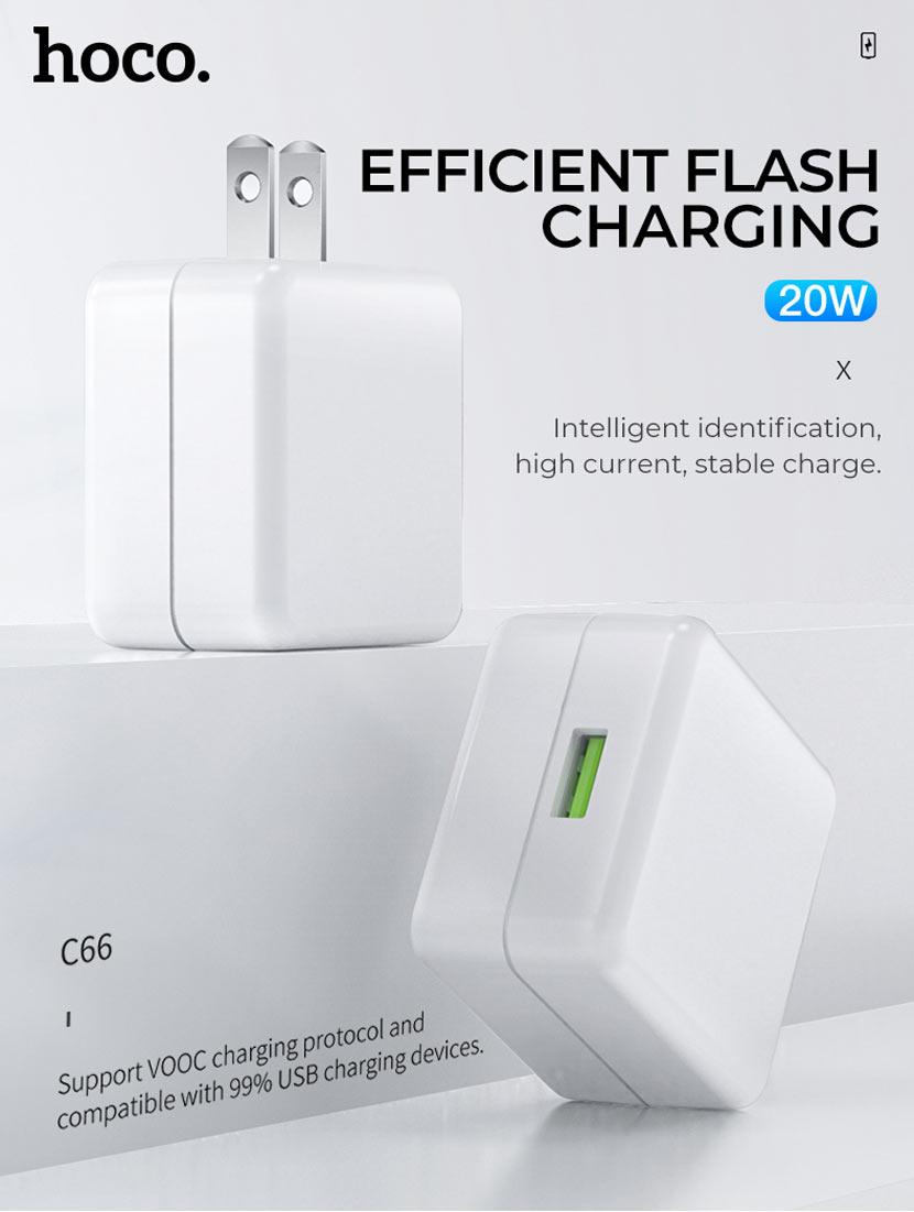 hoco news c66 surpass flash fast charger set type us main en