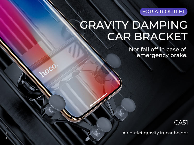 hoco news ca51 air outlet gravity in car holder banner en
