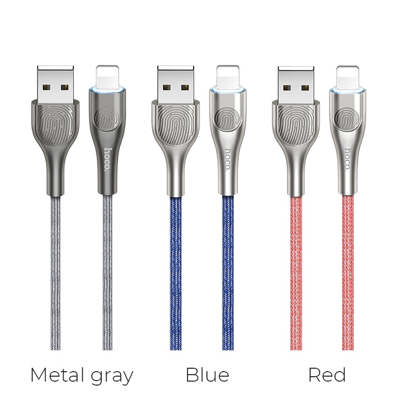 hoco u59 enlightenment charging data cable for lightning colors