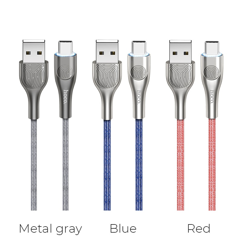 hoco u59 enlightenment charging data cable for type c colors