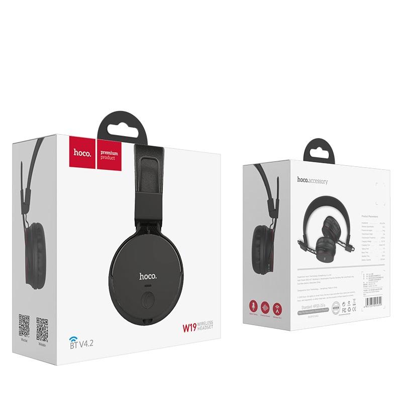 hoco w19 easy move wireless headphones box
