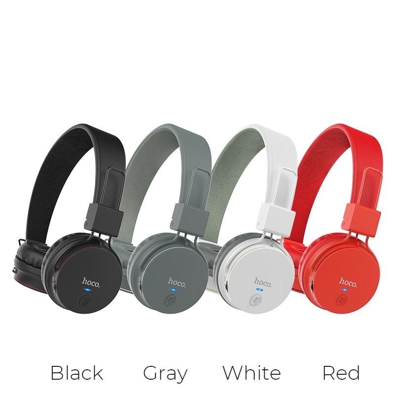 hoco w19 easy move wireless headphones colors