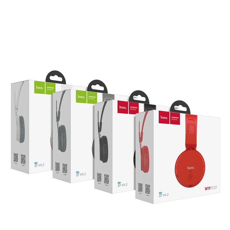 hoco w19 easy move wireless headphones package