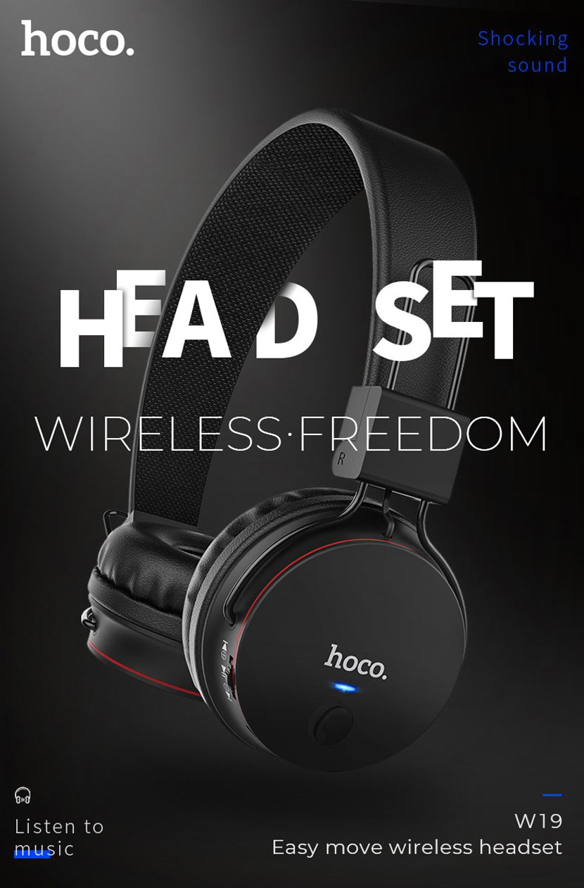 hoco w19 easy move wireless headset main en