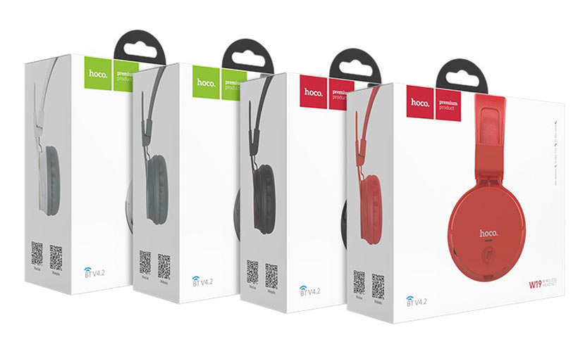 hoco w19 easy move wireless headset package