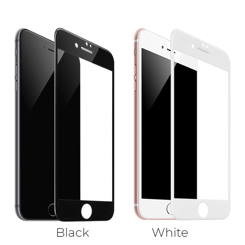 hoco a16 dustproof hd tempered glass for iphone 7 8 plus colors