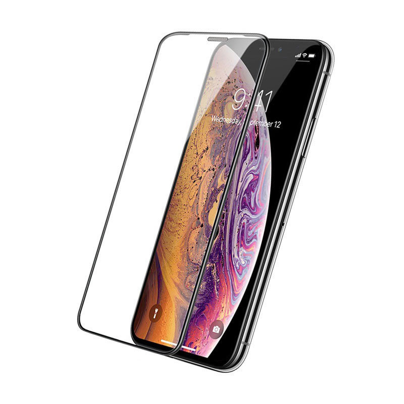 hoco a16 dustproof hd tempered glass for iphone x xs max xr phone