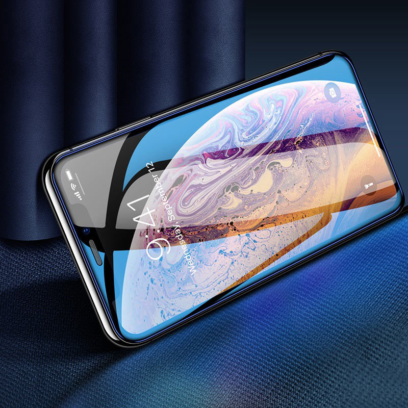 hoco a16 dustproof hd tempered glass for iphone x xs max xr transparent