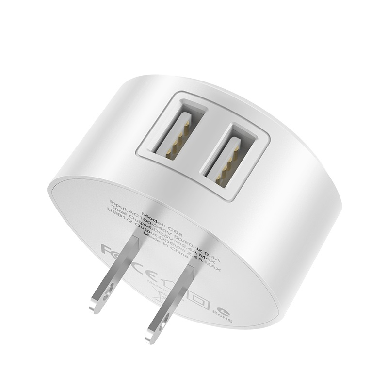hoco c67 shell dual port wall charger us usa