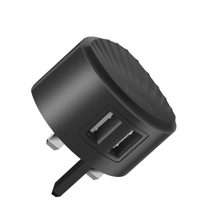 hoco c67b shell dual usb port charger uk plug overview