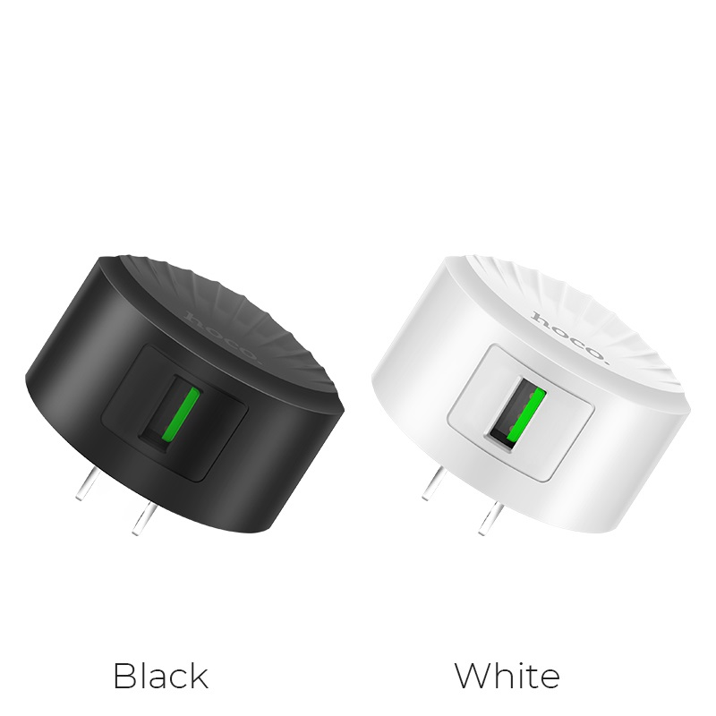 hoco c68 shell single usb port qc30 charger us plug colors