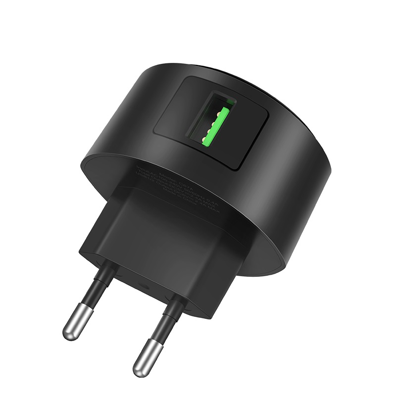 hoco c68a shell single usb port qc30 charger eu plug overview