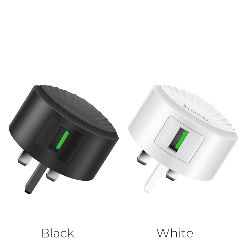hoco c68b shell single usb port qc30 charger uk plug colors
