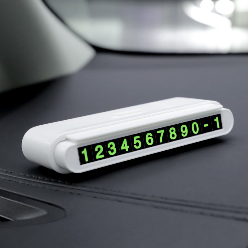 hoco cph19 one click hidden signage in car interior white