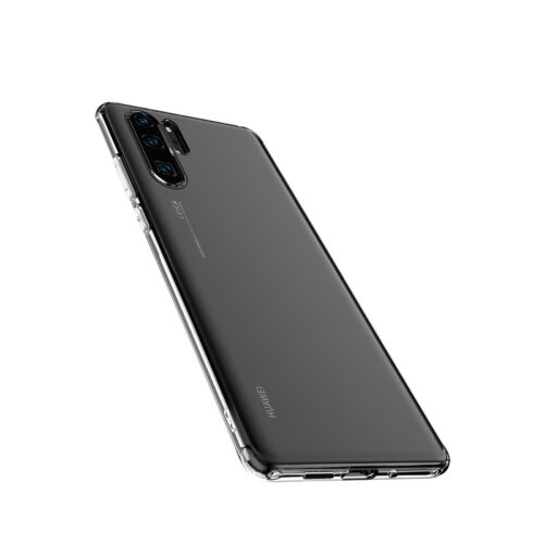 hoco crystal clear series tpu protective case for huawei p30 pro bottom