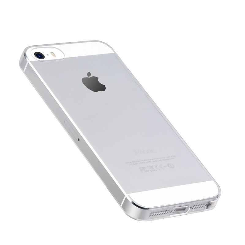 hoco crystal clear series tpu protective case for iphone 5 5s se bottom