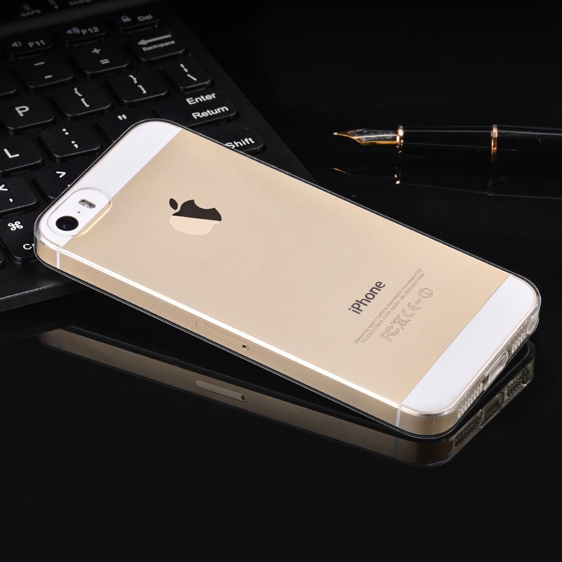 hoco crystal clear series tpu protective case for iphone 5 5s se golden phone