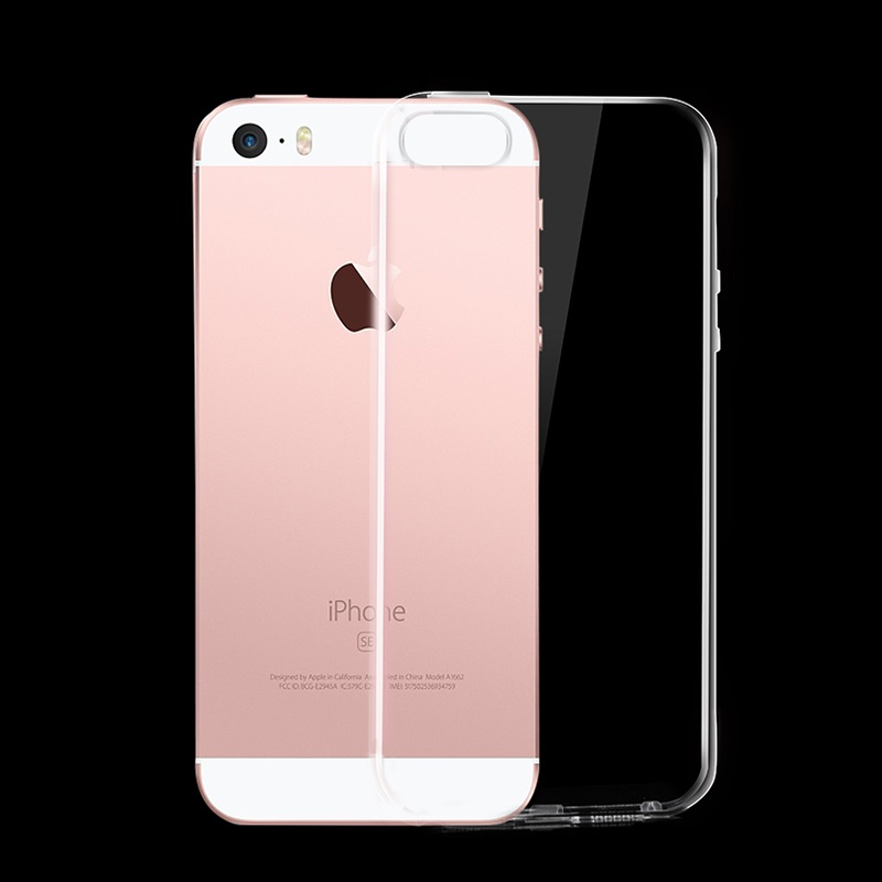 hoco crystal clear series tpu protective case for iphone 5 5s se phone back