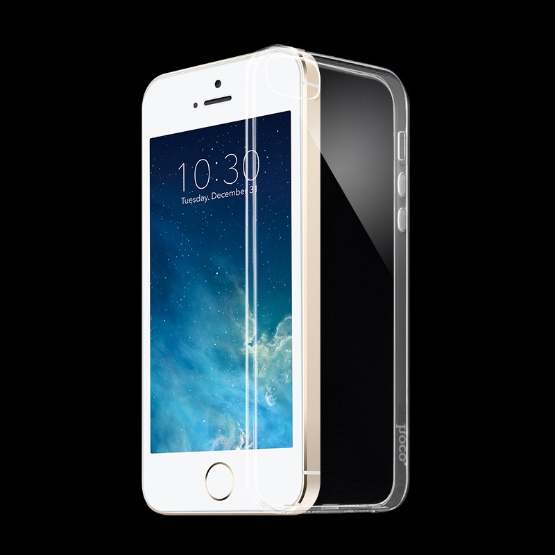hoco crystal clear series tpu protective case for iphone 5 5s se phone front