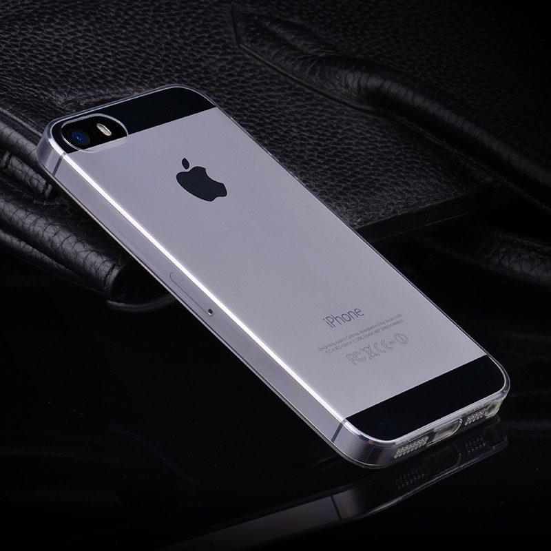 hoco crystal clear series tpu protective case for iphone 5 5s se tarnish phone