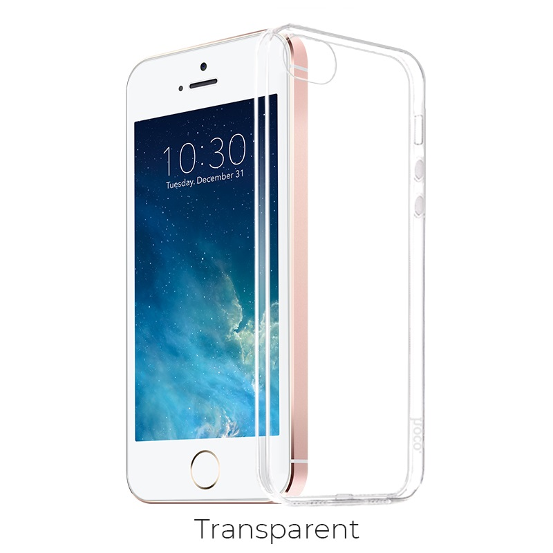 ip 5 5s se crystal case transparent