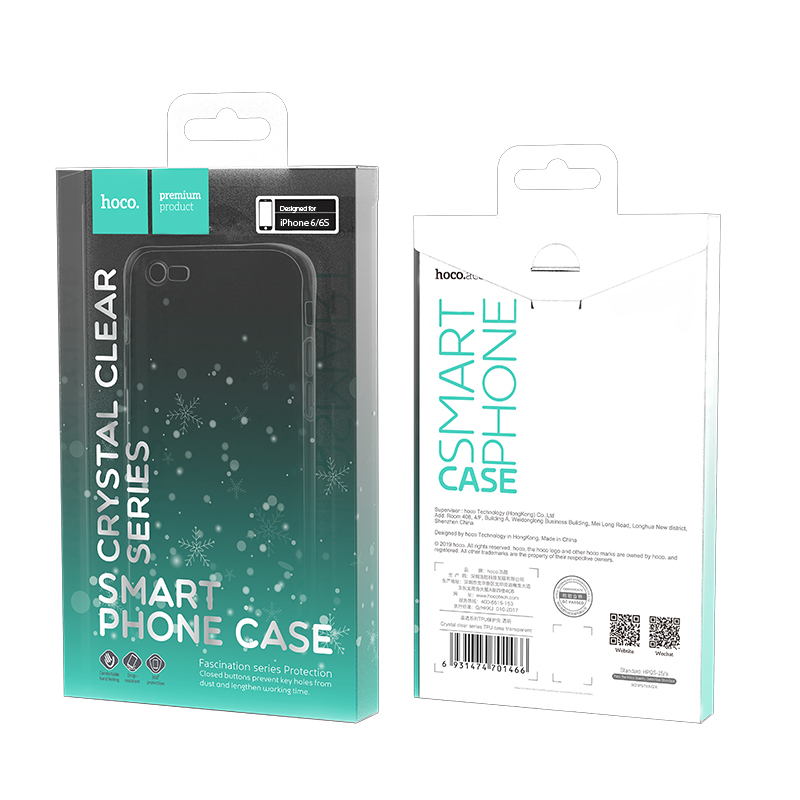 hoco crystal clear series tpu protective case for iphone 6 6s packages
