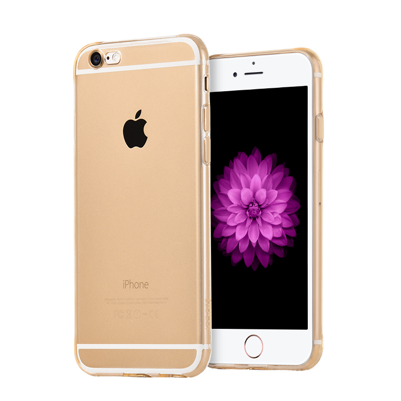hoco crystal clear series tpu protective case for iphone 6 6s plus golden phone