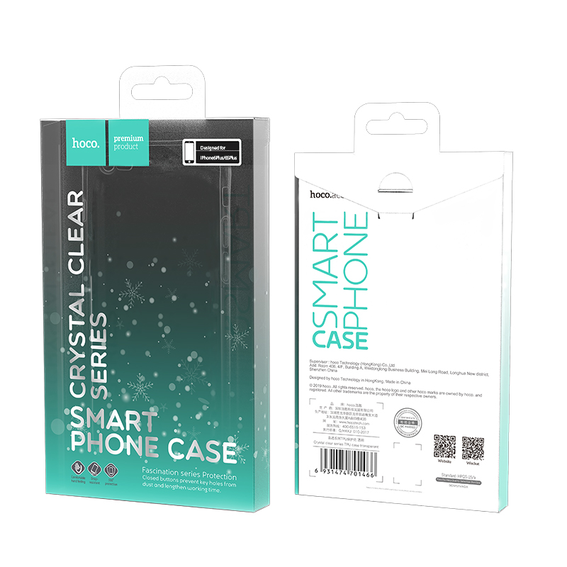 hoco crystal clear series tpu protective case for iphone 6 6s plus packages