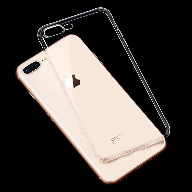hoco crystal clear series tpu protective case for iphone 7 8 plus phone