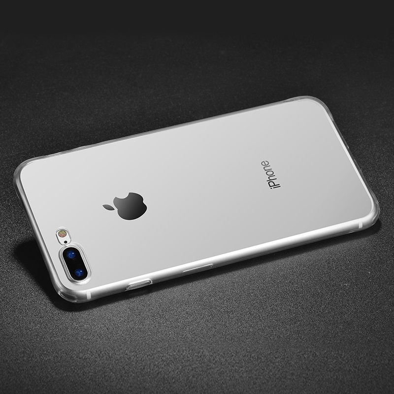hoco crystal clear series tpu protective case for iphone 7 8 plus silver phone