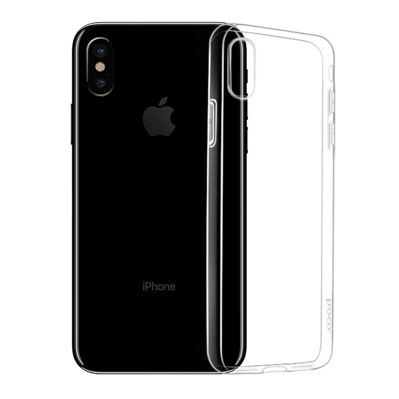 hoco crystal clear series tpu protective case for iphone x xs xs max