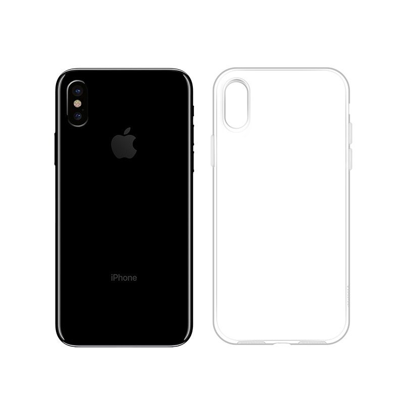 hoco crystal clear series tpu protective case for iphone x xs xs max phone