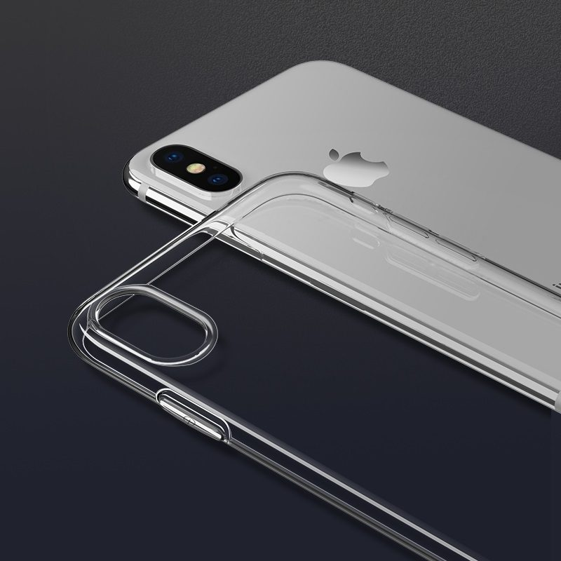 hoco crystal clear series tpu protective case for iphone xr camera