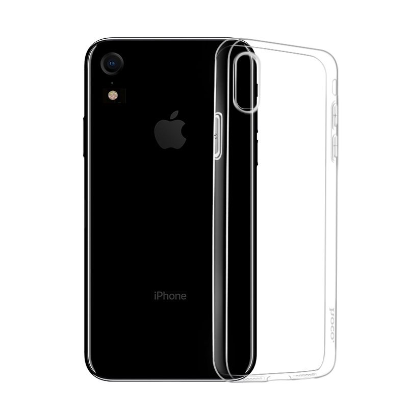hoco crystal clear series tpu protective case for iphone xr phone
