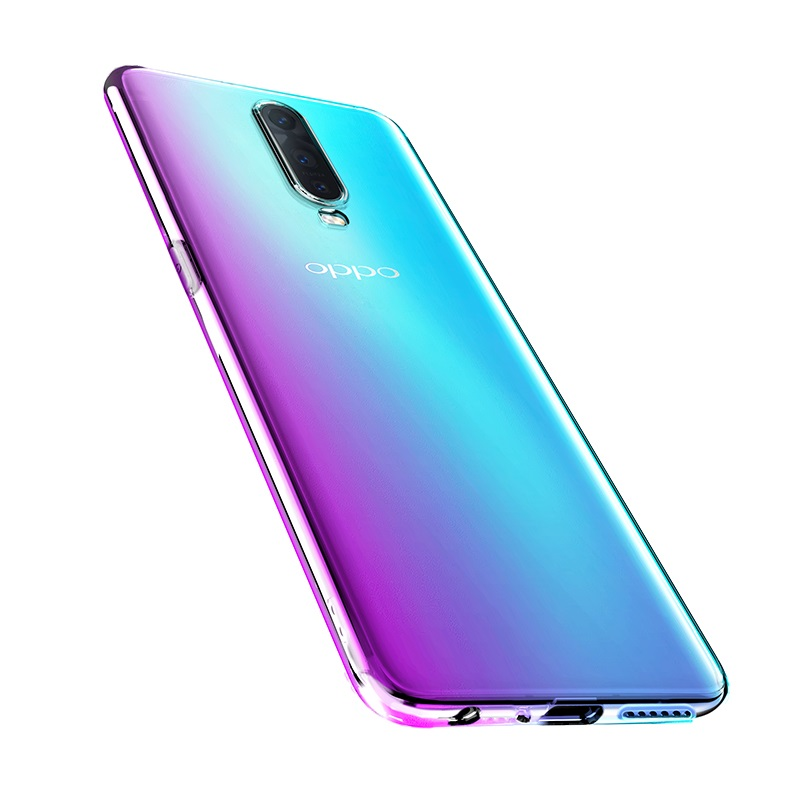 hoco crystal clear series tpu protective case for oppo r17 r17pro bottom