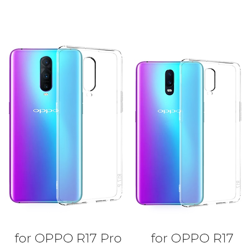 hoco crystal clear series tpu protective case for oppo r17 r17pro phone models