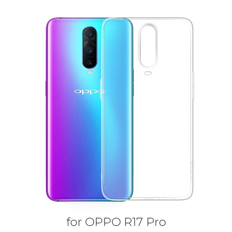 oppo r17 pro crystal case transparent