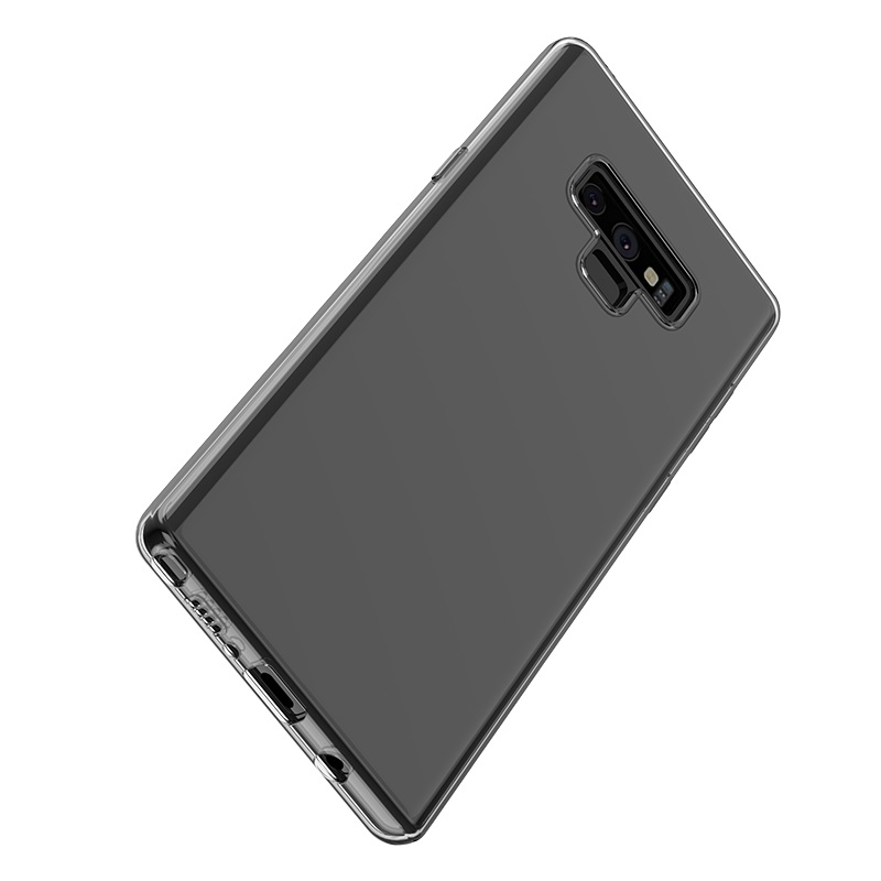 hoco crystal clear series tpu protective case for samsung galaxy note 9 bottom