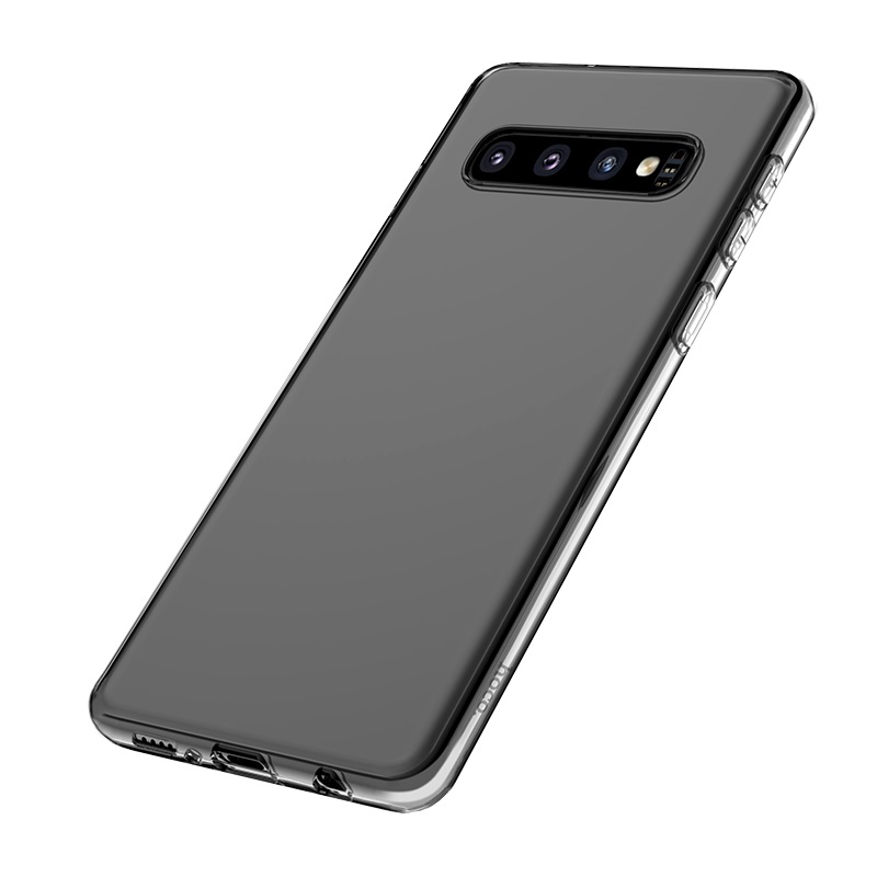 hoco crystal clear series tpu protective case for samsung galaxy s10 backside