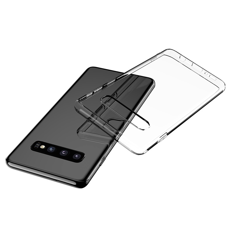 hoco crystal clear series tpu protective case for samsung galaxy s10 phone