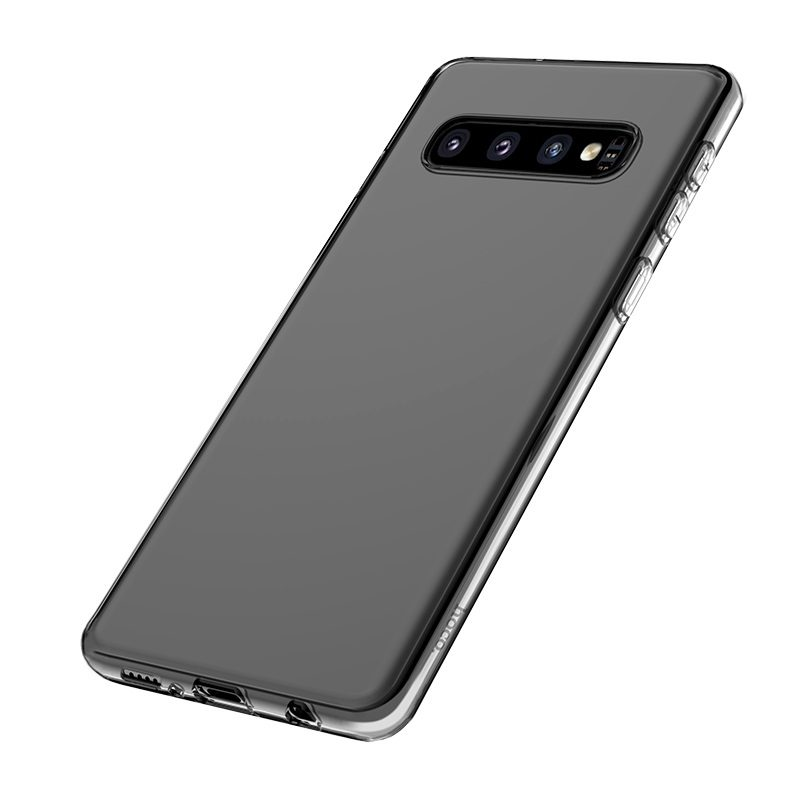 hoco crystal clear series tpu protective case for samsung galaxy s10 plus bottom
