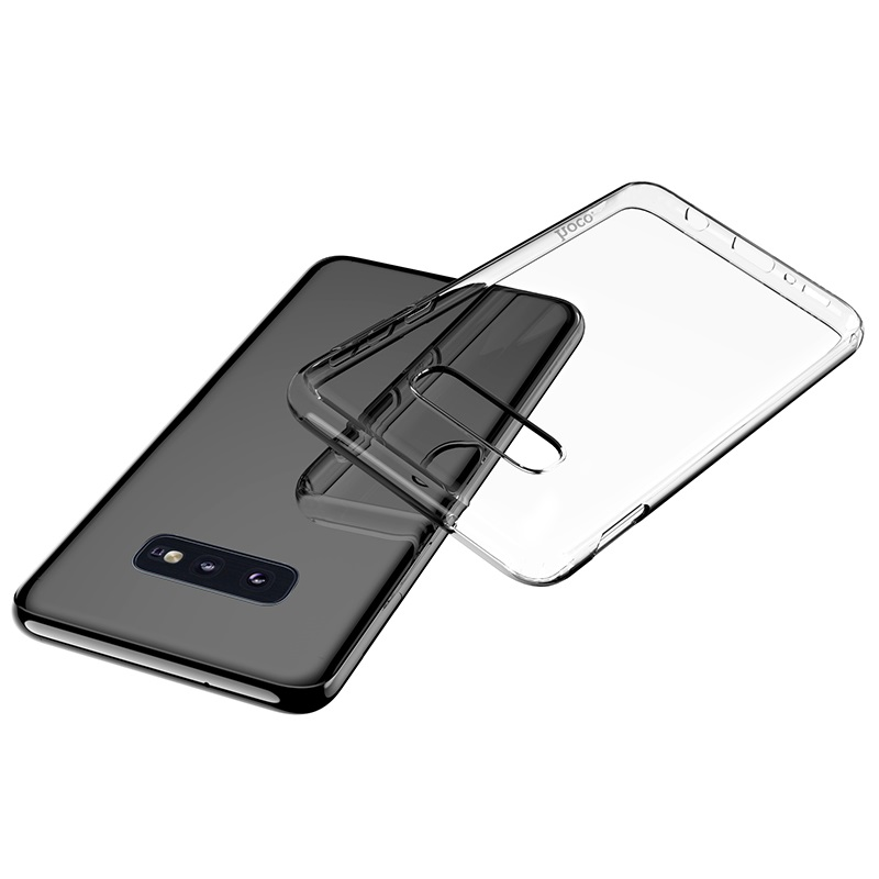 hoco crystal clear series tpu protective case for samsung galaxy s10e phone