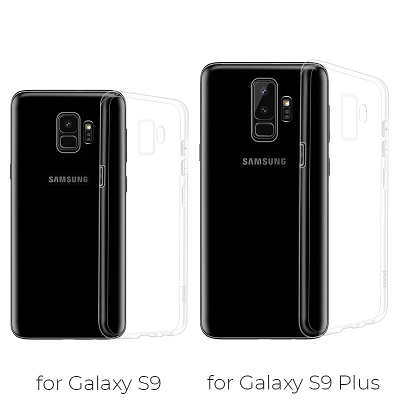 hoco crystal clear series tpu protective case for samsung galaxy s9 s9 plus models