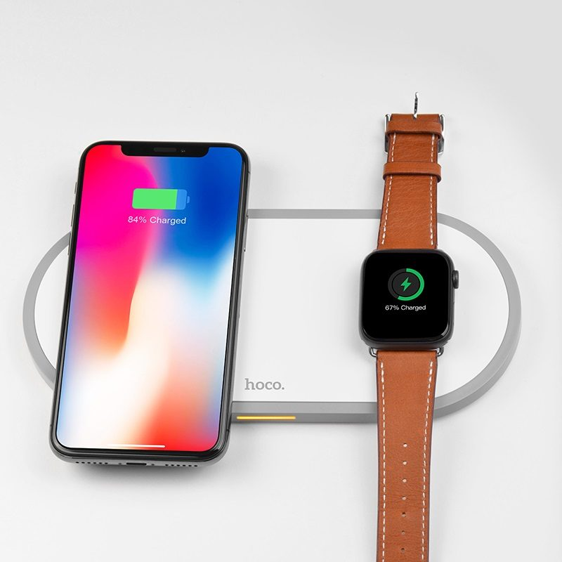 hoco cw20 wisdom 2in1 wireless charger charging