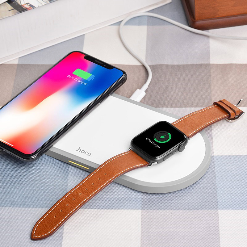 hoco cw20 wisdom 2in1 wireless charger overview