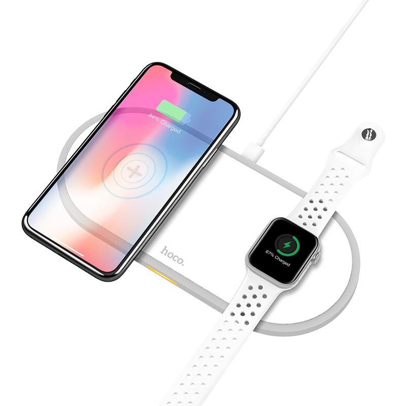 hoco cw20 wisdom 2in1 wireless charger phone watch