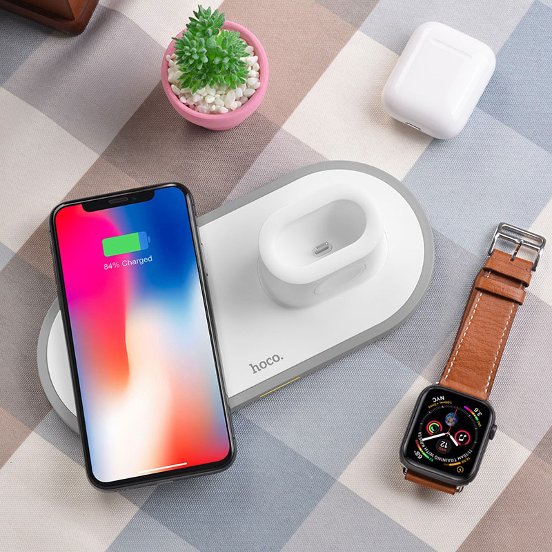 hoco cw21 wisdom 3in1 wireless charger interior