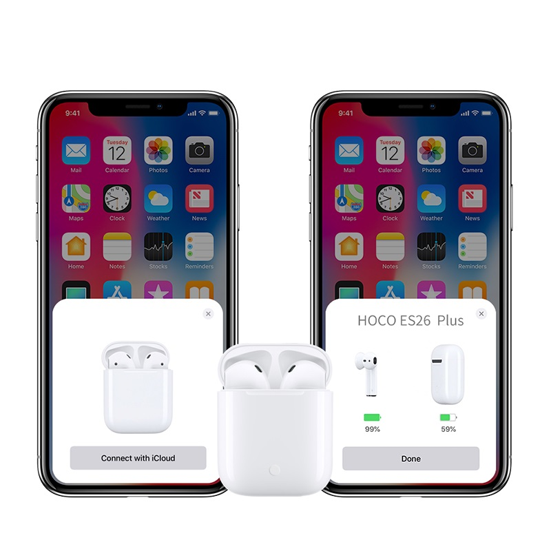 hoco es26 plus original series apple wireless headset connection