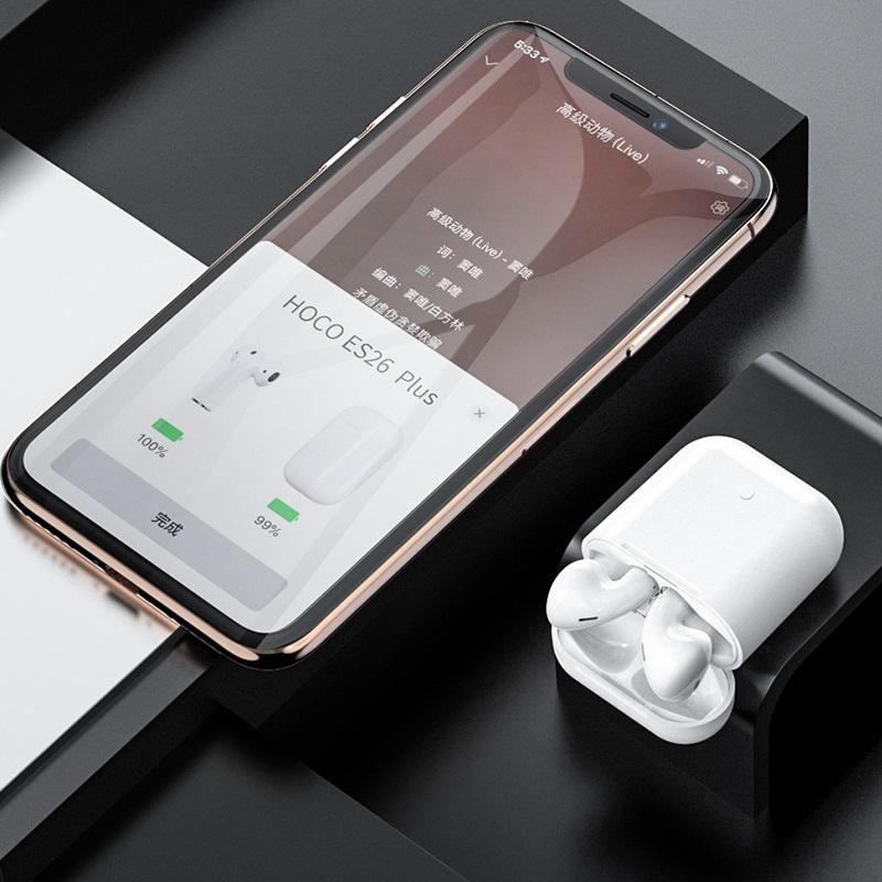 hoco es26 plus original series apple wireless headset phone