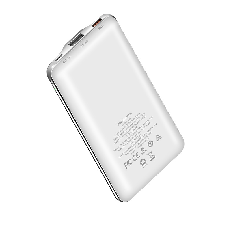 hoco j39 quick energy pd qc30 mobile power bank 10000mah back